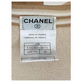 Chanel-Knitwear-White,Light brown