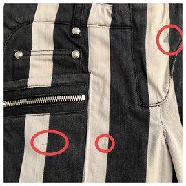 Balmain-jeans-Noir,Blanc