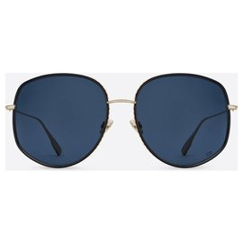 Dior-Dior, DIOR Lunettes de soleil pilote DiorByDior2 en métal doré et laque noire-Noir,Doré