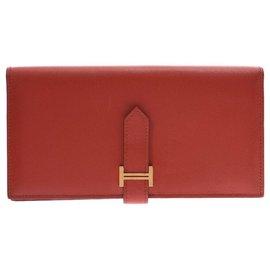 Hermès-Hermes Bearn wallet-Orange