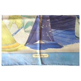 Salvatore Ferragamo-FERRAGAMO sailboat scarf.-Multiple colors