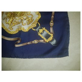 Hermès-Hermes Royal Mews Buckingham Palace Schal-Dunkelblau
