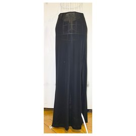Dolce & Gabbana-Long black skirt-Black