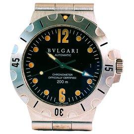 Bulgari-Bvlgari Diagono Scuba SD 38 S-Silber