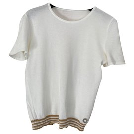 Chanel-Tops-White,Light brown