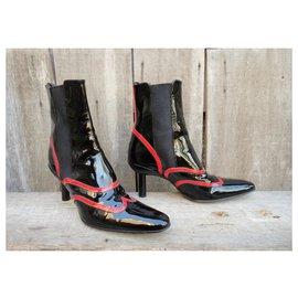 Free Lance-Free Lance p boots 39 1/2-Black,Red