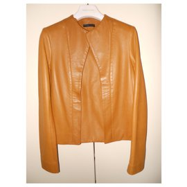 The row-Leather jacket-Caramel