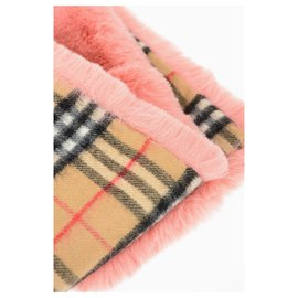 Burberry-Burberry faux fur scarf-Pink