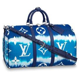 Louis Vuitton-LV Keepall Escale bleu-Bleu