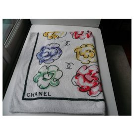 Chanel-CHANEL Camélias Beach towel Rare Model-Multiple colors