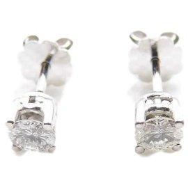 Autre Marque-gold nails 18k diamonds 0,70 cts total env-White