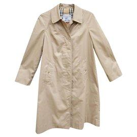 Burberry-Burberry women's vintage raincoat 38-Beige