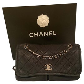 Chanel-Chanel suede bag-Black