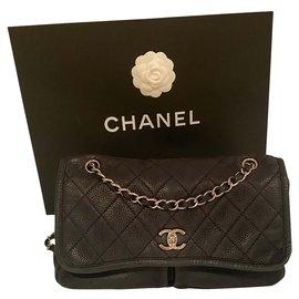 Chanel-Sac en daim Chanel-Noir