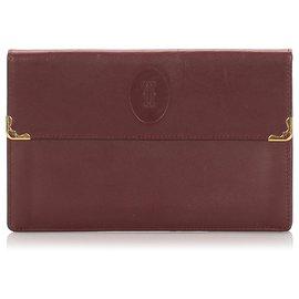 Cartier-Cartier Red Must de Cartier Leather Wallet-Red,Dark red