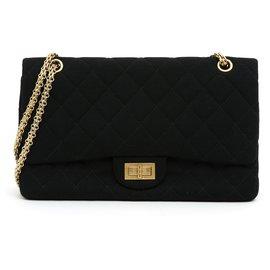 Chanel-255 JERSEY BLACK 30-Black