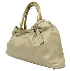 Chloé-Chloé Leather Shoulder bag-Grey