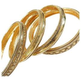 Chanel-Chanel Vintage Quadruple Bracelet-Golden