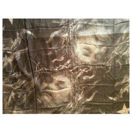 Givenchy-GIVENCHY Silk and Modal scarf-Grey,Dark grey