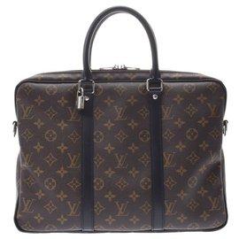 Louis Vuitton-Louis Vuitton Porte Documents Voyage-Marron