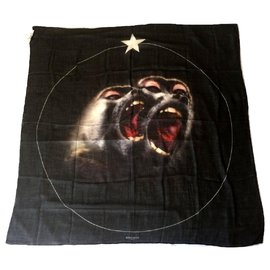 Givenchy-GIVENCHY Cashmere and Silk Scarf-Black