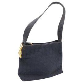 Dior-Dior Lady Dior handbag in canvas and leather-Bleu Marine