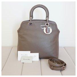 Christian Dior-Handbags-Grey,Taupe