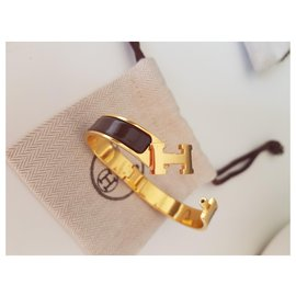 Hermès-Clip H-Brown