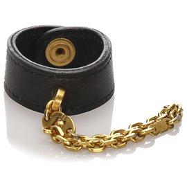 Hermès-Hermes Black Swift Glove Holder-Black,Golden