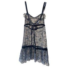 Chanel-Chanel lace dress-Black