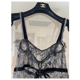 Chanel-Chanel lace dress-Black