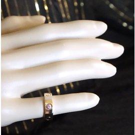 Cartier-cartier 18k Saphir 1p Taille de bague en or rose rose 47-Doré