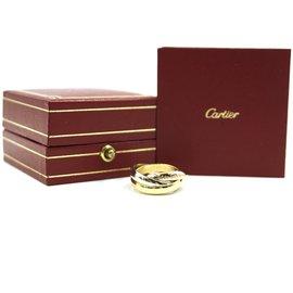 Cartier-Cartier tricolore 18K 750 Taille de bague Trinity 50-Doré