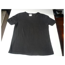 Chanel-CHANEL BOUTIQUE Cotton knit T-shirt T40-Black