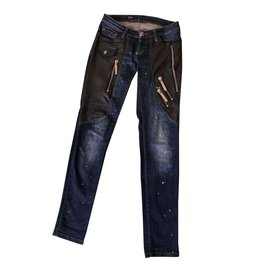 Philipp Plein-jean coupe slim-Bleu