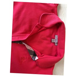 Burberry-Polo T-shirt-Coral