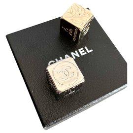 Chanel-Jeu de dés Chanel-Argenté,Doré
