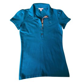 Burberry-Polo T-shirt-Turquoise