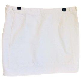 Acne-White denim skirt-White