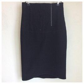 Acne-Black pencil skirt-Black