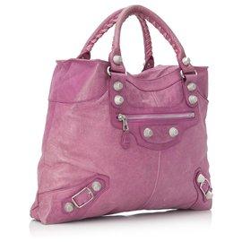 Balenciaga-Balenciaga Pink Motocross Giant 21 Brief Handbag-Pink