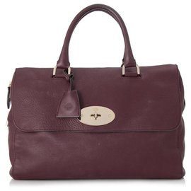 Mulberry-Mulberry Red Del Rey Leather Handbag-Red,Other