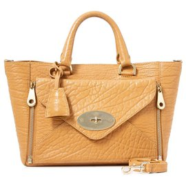 Mulberry-Mulberry Brown Small Willow Leather Satchel-Brown,Light brown