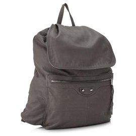 Balenciaga-Balenciaga Gray Motocross Classic Traveler S Backpack-Grey