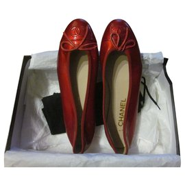 Chanel-Ballet flats-Red