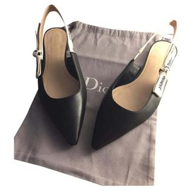 Dior-BALLERINE J'ADIOR EN NAPPA CUIR NOIR NEUF-Noir