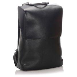 Balenciaga-Balenciaga Black Phileas Leather Backpack-Black