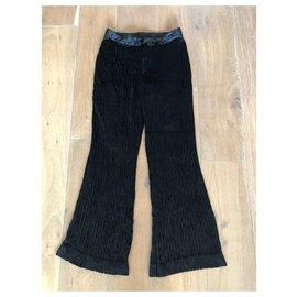 Gucci-Pantalon velours Gucci Vintage noir-Noir