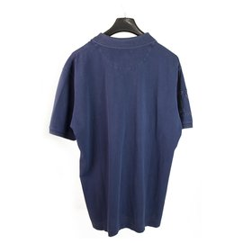 Autre Marque-La Martina Blue Washed Look Short Sleeve Cotton Polo Mens Top size XXL-Blue