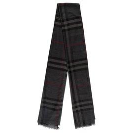 Burberry-Burberry scarf-Grey